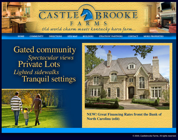 Castlebrook Manor Website